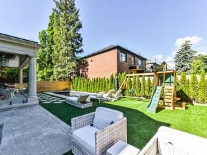 Beautiful back yard of home constructed by Kilbarry Hill Construction Ltd.