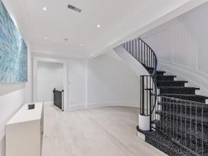 Basement in home constructed by Kilbarry Hill Construction Ltd.