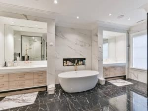 Master bath of house constructed by Kilbarry Hill